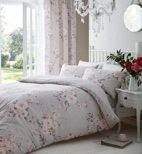 Catherine Lansfield Canterbury Grey Bedding Set